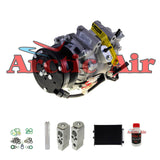 97555 New A/C Compressor Kit w/Condenser For 2006-2011 Honda Civic 1.8L 2 Door Only