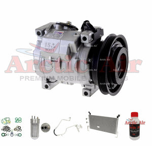 A/C Compressor Kit with Condenser Fits 2003-2005 Dodge Neon 2.0L 77387 New