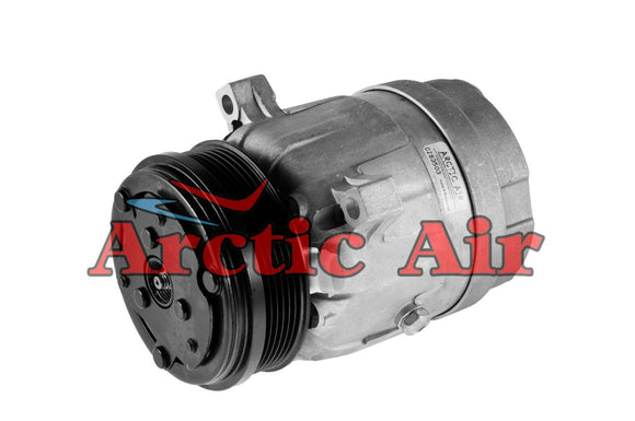 57987 AC Compressor for 1996-2004 Buick Regal, Chevy Impala/Lumina, and Oldsmobile Intrigue (front view)