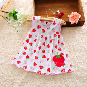Summer Baby Girl Dress Princess 0-1 Year Birthday Infant Girl Dot Newborn Dresses Baby Girls Cutton Clothes