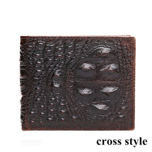 100% TOP cow genuine leather  wallets Mens