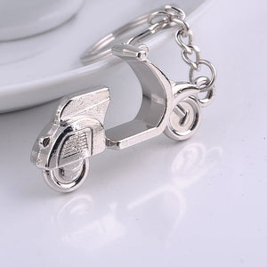 Gift Trinket Cartoon Silver Metal Motorcycle Car