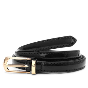 Candy Color Metal Buckle Thin Casual Belt For Women