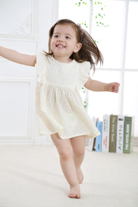 New Fashion Cute Baby Girl Dress Toddler Girls Summer Wear with Printed Flowers in 100% Cotton