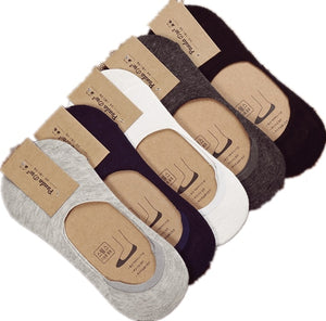 10 pieces = 5 pairs new Cotton men invisible socks