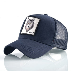 Embroidered rooster baseball cap men women breathable mesh hip hop unisex