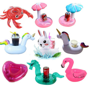 Inflatable cup holder Unicorn Flamingo Drink holder Float for pool