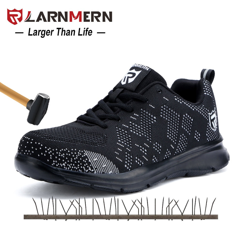 ed2857b581d LARNMERN Steel Toe Safety Shoes For Men Lightweight Anti-smashing ...