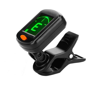 AT-101 Digital Clip Type Electric Digital Guitar Tuner Foldable High Sensitivity Rotating Clip Musical Instrument Guitar Tuner