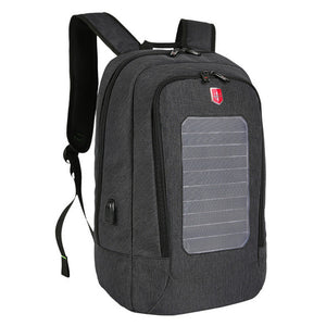 Solar Panel Backpack Man Usb Charging Anti-Theft 15.6inch Laptop Backpacks