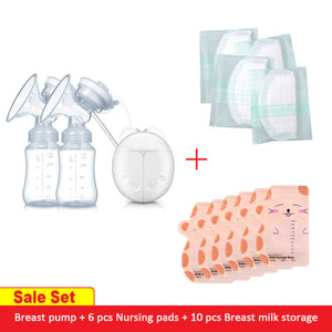GL Electric Double Breast Pump USB BPA Free Set