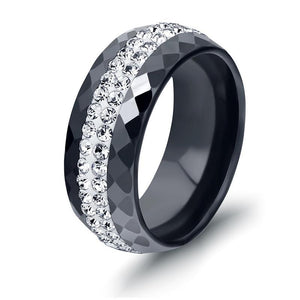 High Quality Black And White Simple Style Crystal Ceramic