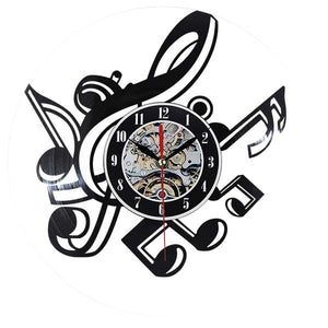 2019 New Creative Novelty Living Room Vintage Retro Vinyl Wall Clock Musical