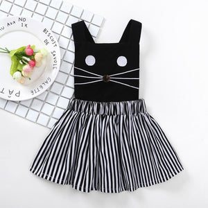 0-3T Kid Dress Girls Cartoon Print