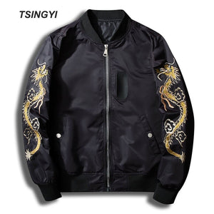 Spring Dragon and Crane Embroidery Jacket Men