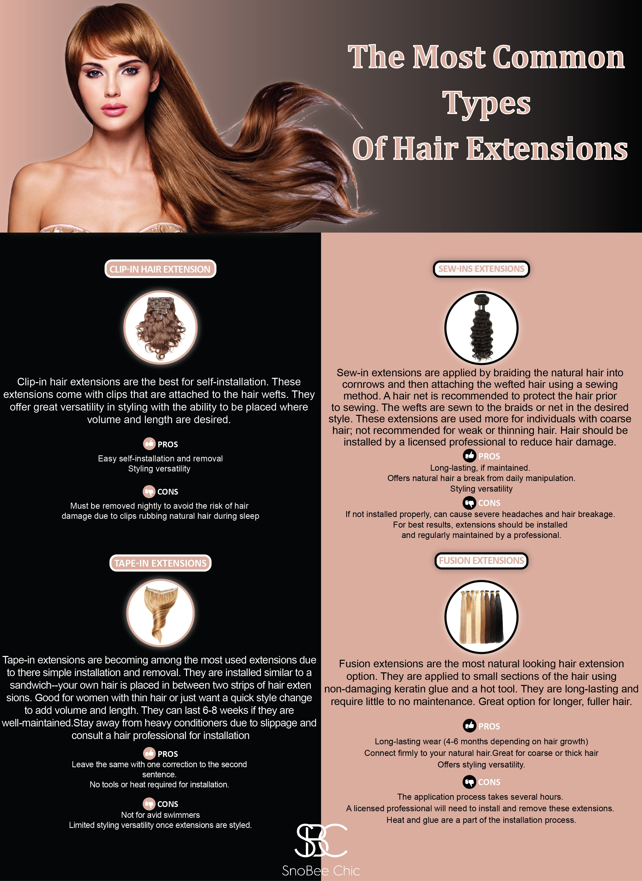 The Most Common Types Of Hair Extensions