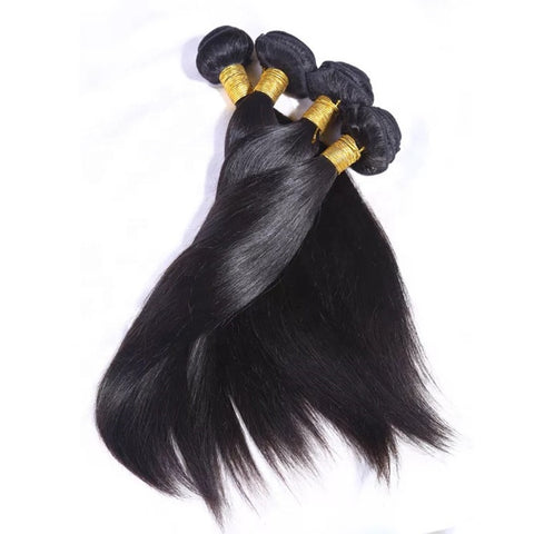 Raw Indian Natural Straight Bundle Deal
