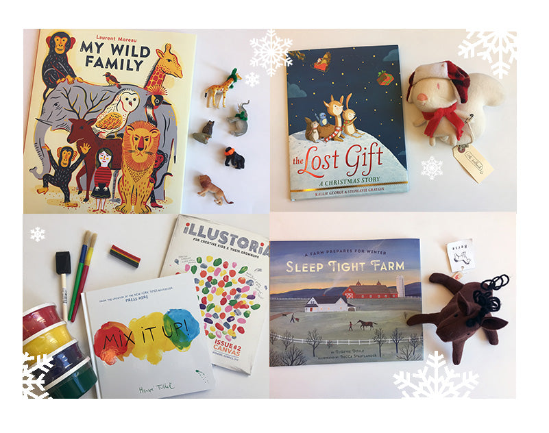 Books in the Holiday Gift Guide for kids from Collage Collage