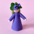 Miniature Felt Violet Flower Fairy Doll handmade by Ambrosius