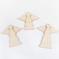 Angel Wooden Ornament Set of 3