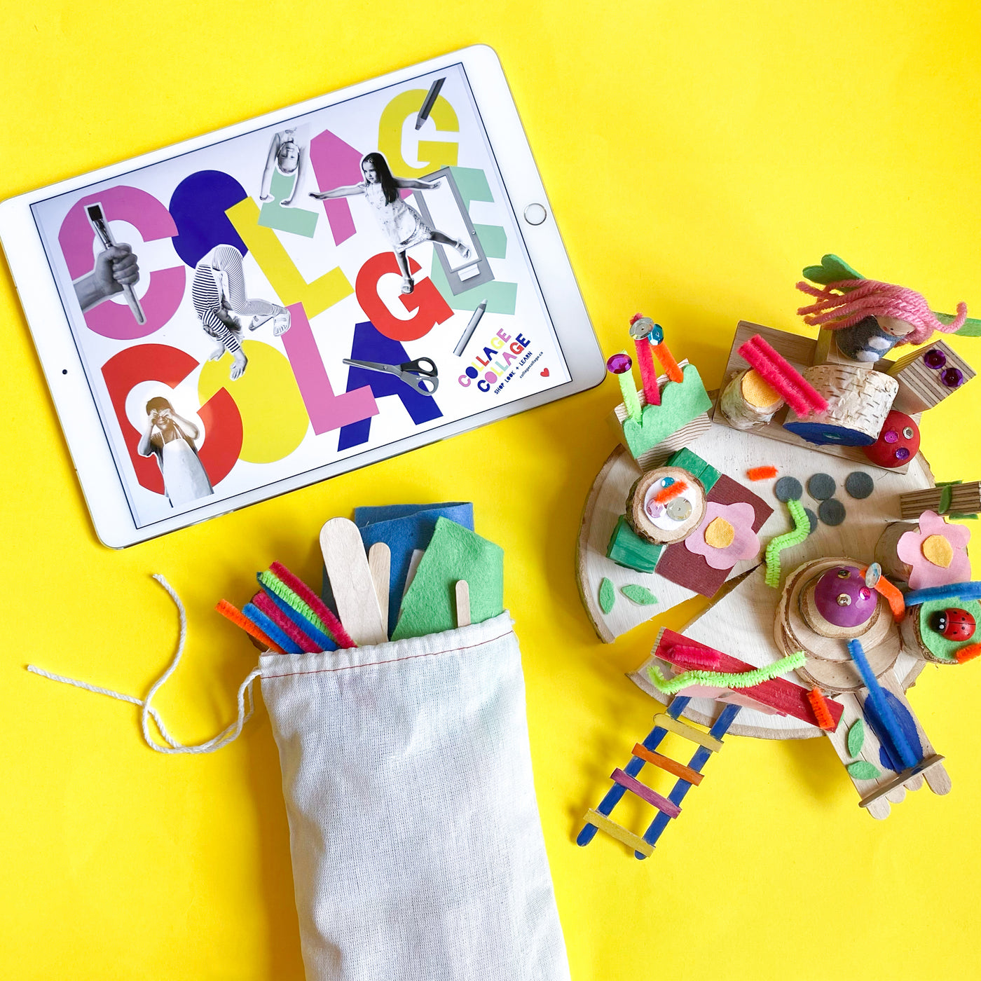 Online Art Camp for Kids with a weeks worth of creative art projects