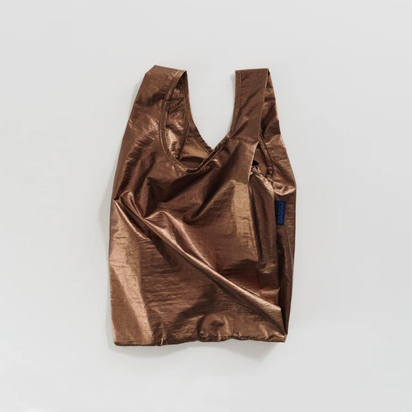 Baggu reusable bag in Baby size in a Metallic Copper Color