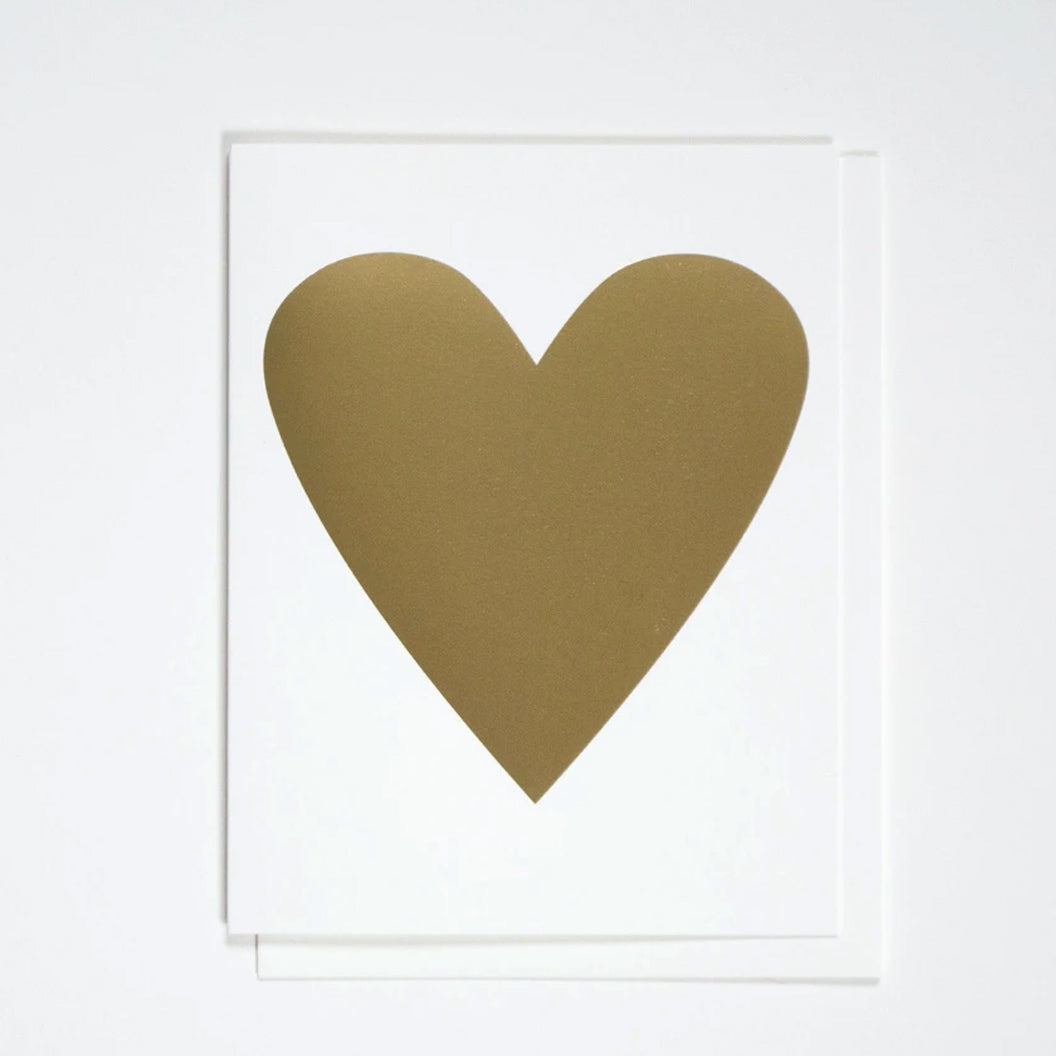 Gold Foil Heart Greeting Card by Banquet