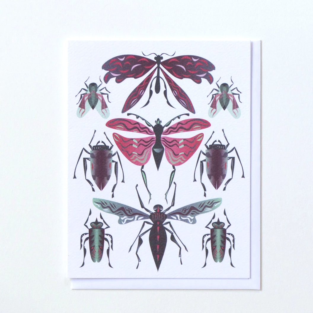 Insects Greeting Card with beetles by Banquet Workshop