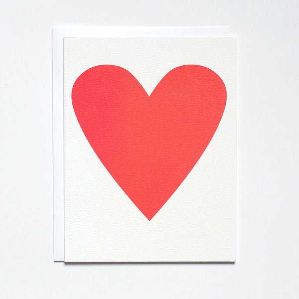 Greeting Card with a Neon Pink heart by Banquet Workshop
