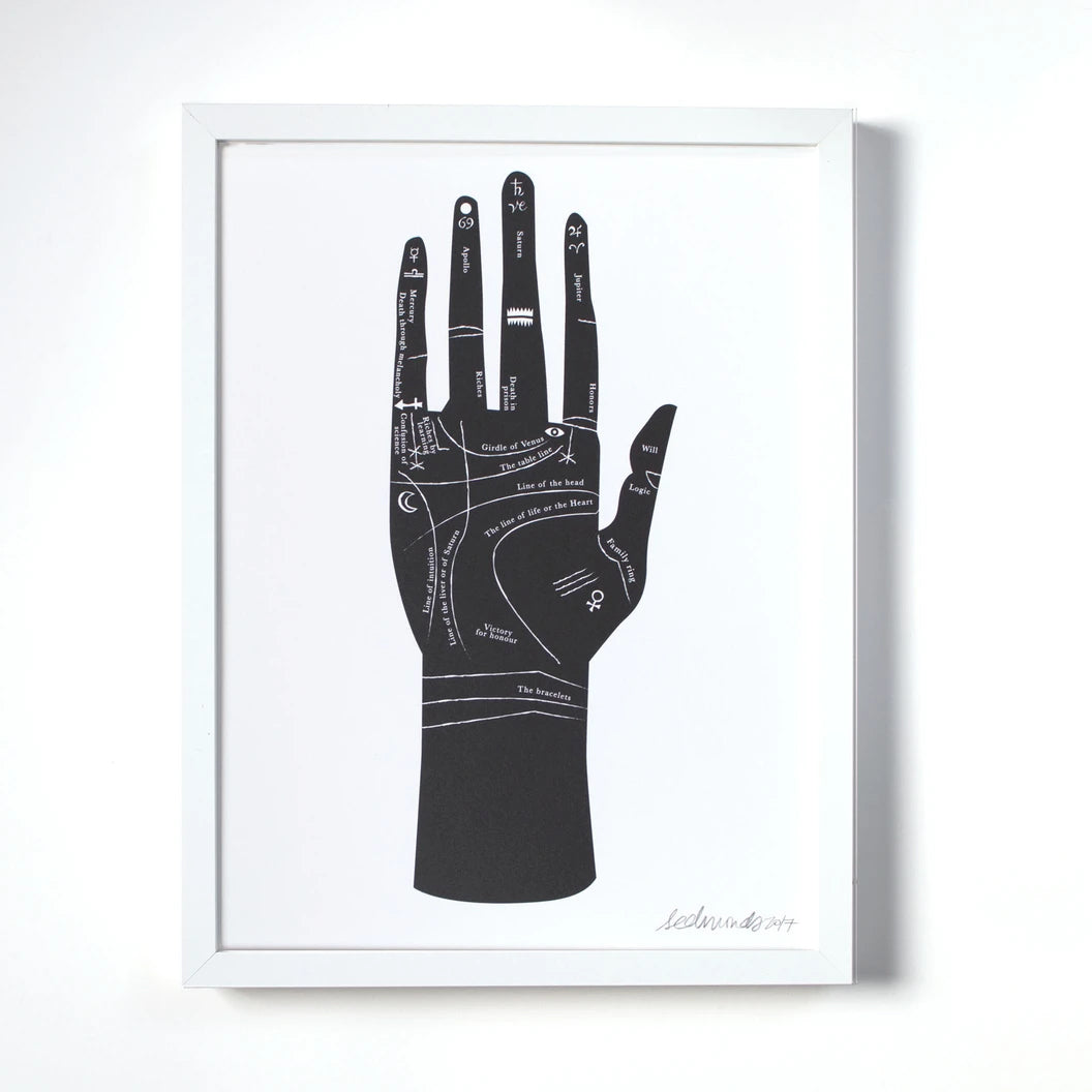 Palmistry Hand Wall Art Print by Banquet Workshop