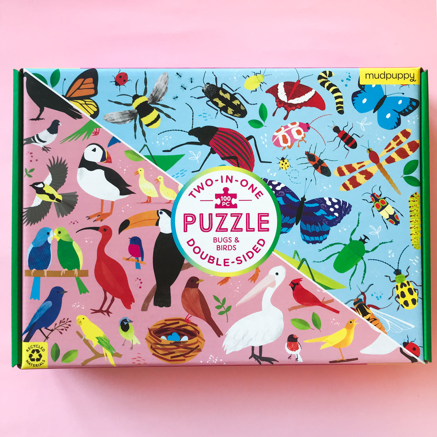bugs and birds two in one puzzle by mudpuppy