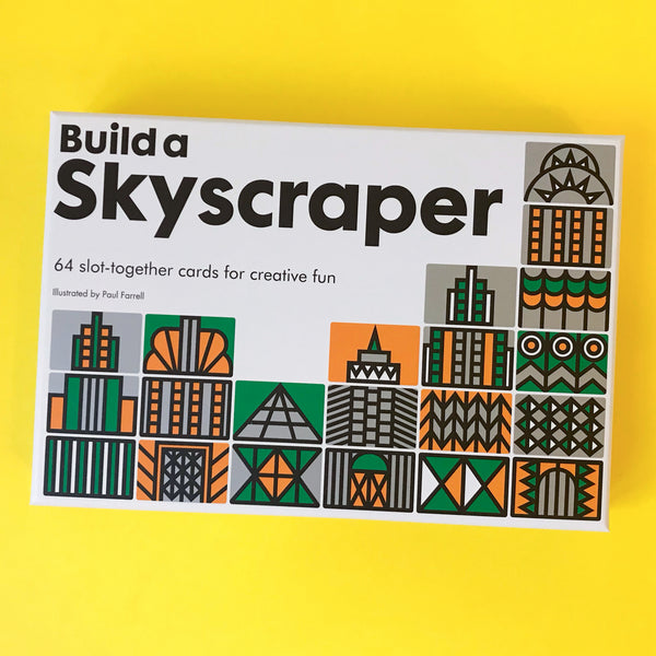 Build A Skyscraper 64 Slot-Together Cards for Creative Fun