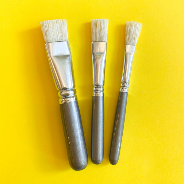 Set of 3 chubby paintbrushes for kids