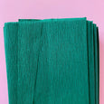 Crepe Paper Folds in Dark Green
