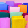 Crepe Paper Folds in different colours