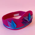 Felt Lotus Crown in magenta with Turquoise and lavender lotus