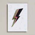 Bolt in black pink and gold iron on patch