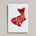 Red Koi iron on patch