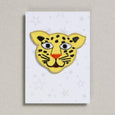 Yellow Leopard iron on patch