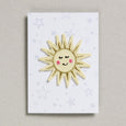 Sun in yellow and gold iron on patch
