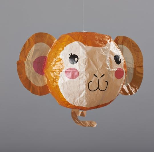 Japanese Paper Ball Balloon in a Monkey Design by Petra Boase