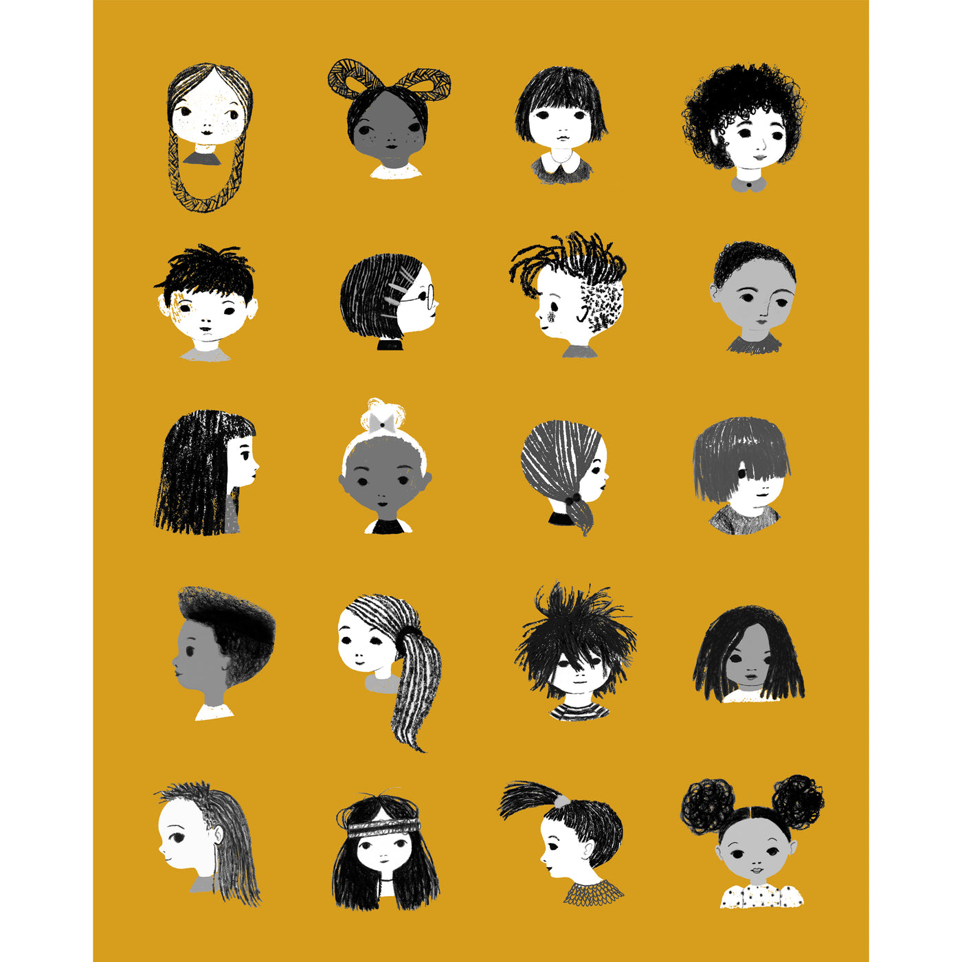 Julie Morstad Print - Hair