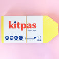 Kitpas Crayons in Large in 12 colours with Large sets of 12 with a built in palate