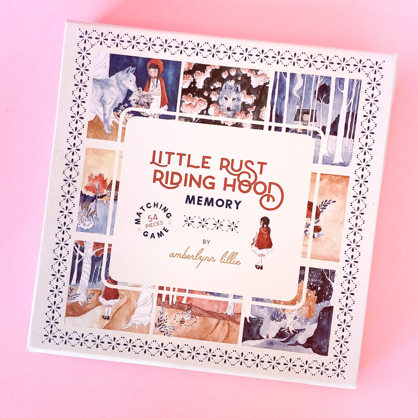 Little Rust Riding Hood Memory Game by Amberlynn Lillie