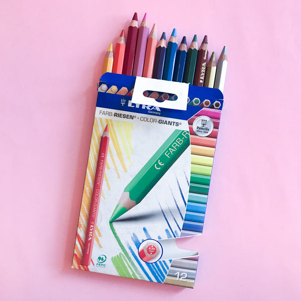 Lyra Color Giants Lacquered Set of 12 Pencils