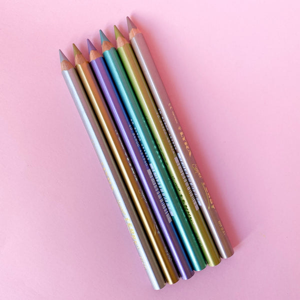 Lyra Super Ferby Lacquered Metallic Colored Pencils Set of 6