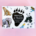 Match A Track Game where you Match 25 Animals to Their Paw Prints
