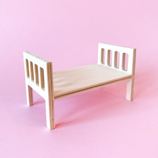Miniature Wood Paintable Bed Frame