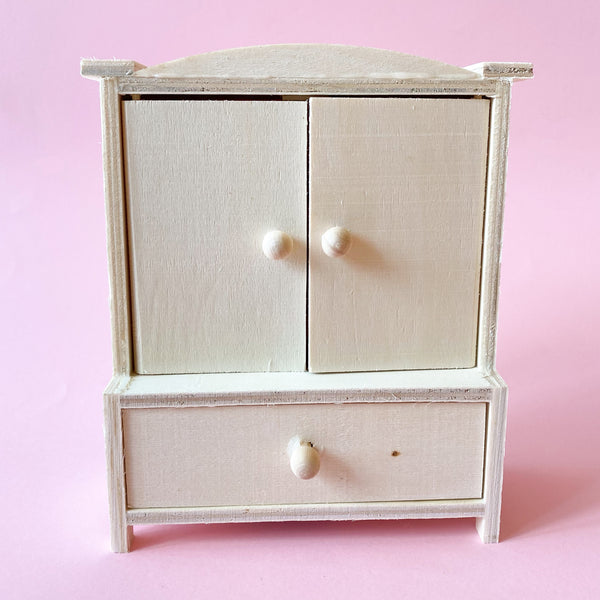 Miniature Paintable Wood Dresser for Dollhouses or Fairy Gardens