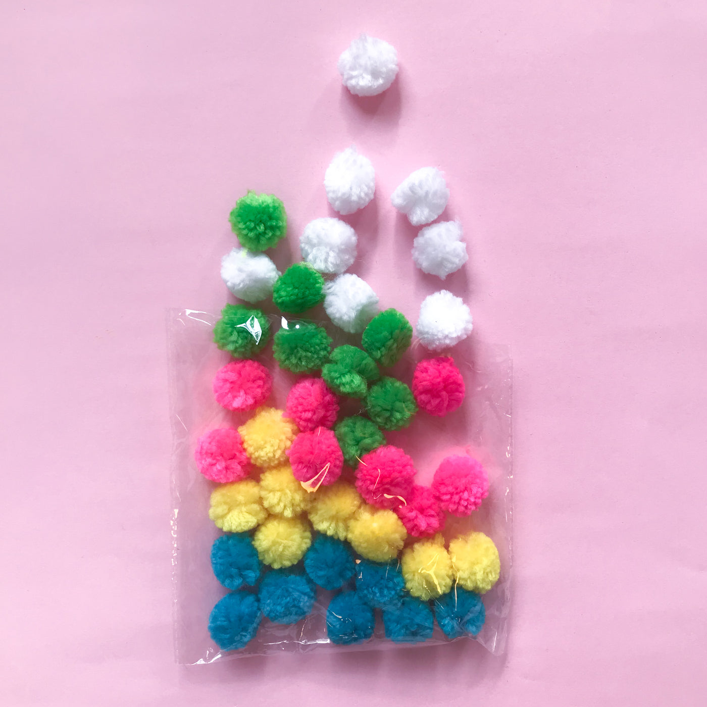 Bagged Pom Poms Small